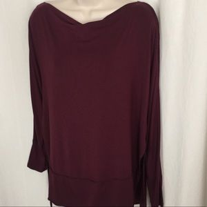 We The Free M Maroon Tunic Top Free People